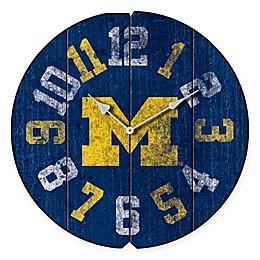 University of Michigan Vintage Round Wall Clock