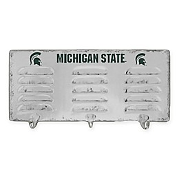 Michigan State University 3-Hook Metal Locker Coat Rack