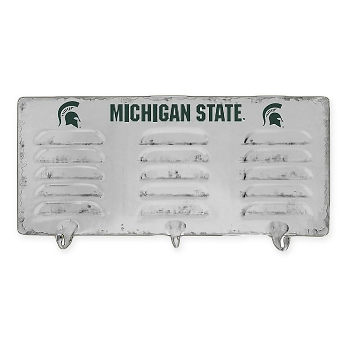 Alternate image 1 for Michigan State University 3-Hook Metal Locker Coat Rack