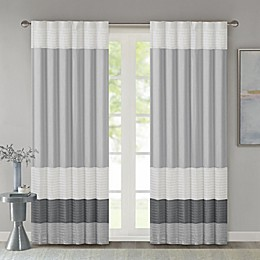 Madison Park Amherst 84-Inch Rod Pocket/Back Tab Window Curtain Panel