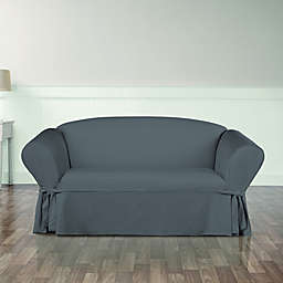 Sure Fit® Essential Twill Loveseat Slipcover