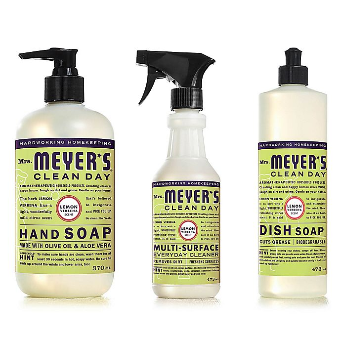 Alternate image 1 for Mrs. Meyer's® Clean Day Lemon Verbena Cleaning Products