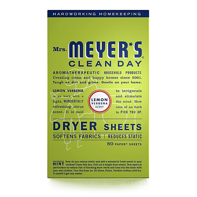 Alternate image 1 for Mrs. Meyer's® Clean Day Lemon Verbena 80-Count Dryer Sheets