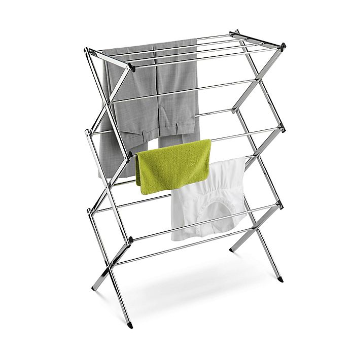 Alternate image 1 for Honey-Can-Do® Commercial Drying Rack in Chrome