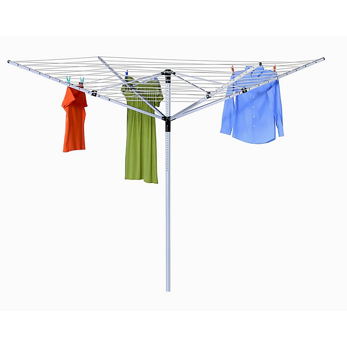 Honey Can Do Outdoor Umbrella Clothes Line Dryer In White Bed Bath Beyond