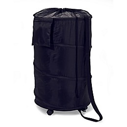 Honey Can Do Pop-Up Wheeled Hamper in Black