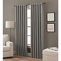Grayson 108-Inch Rod Pocket/Back Tab Window Curtain Panel in Charcoal