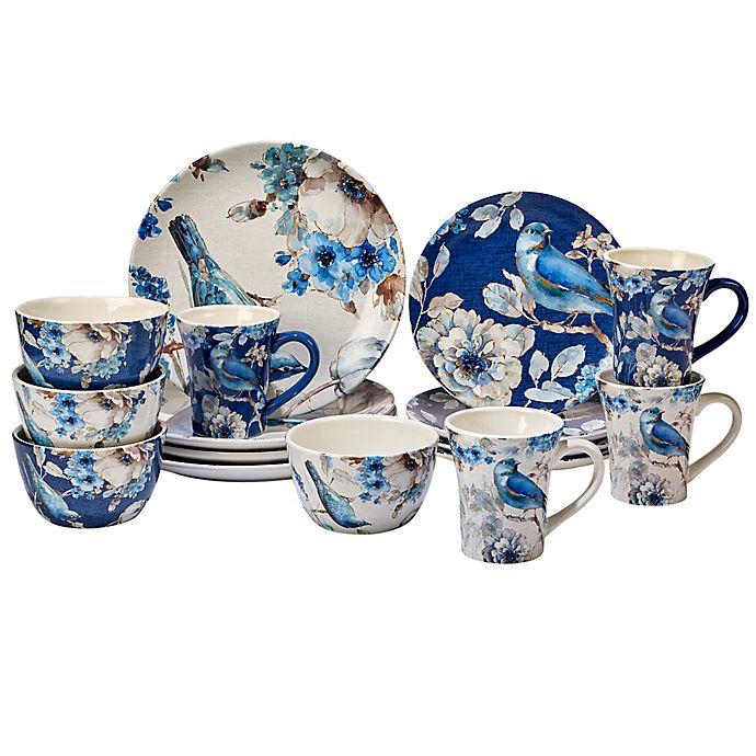 Alternate image 1 for Certified International Indigold 16-Piece Dinnerware Set in Blue