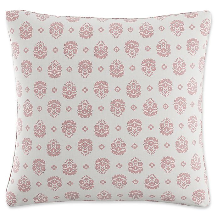 Alternate image 1 for Skyline Furniture Floral Throw Pillow in Dusty Red