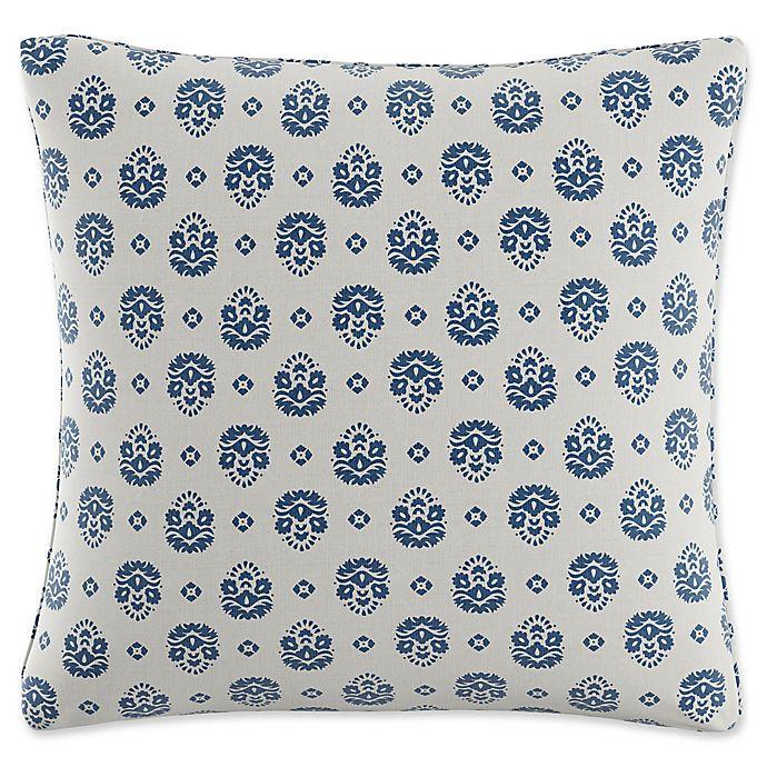 Alternate image 1 for Skyline Furniture Floral Throw Pillow in Indigo