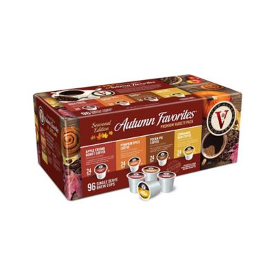 96 Count Victor Allen 174 Autumn Variety Pack Coffee Pods
