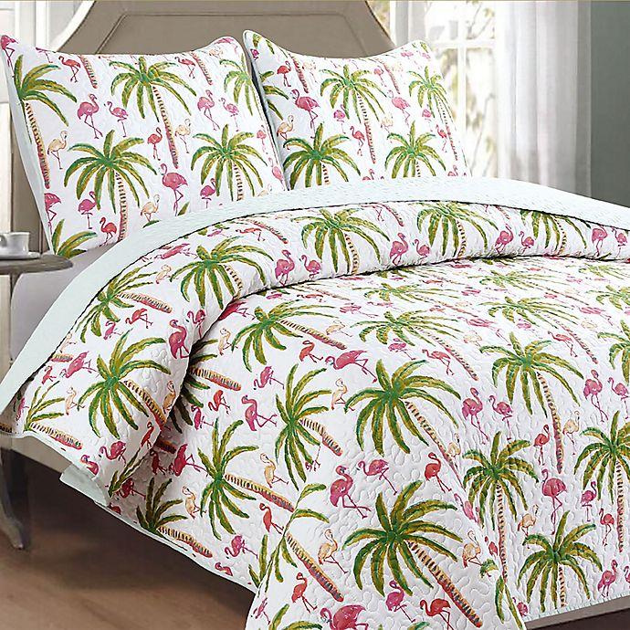 Panama Jack 174 Flamingo Reversible Quilt Set Bed Bath Amp Beyond