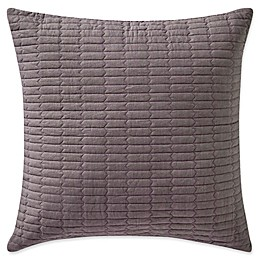 Highline Bedding Co. Driftwood Quilted Square Throw Pillow in Plum