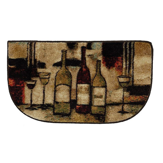 Alternate image 1 for Mohawk Home Wine and Glasses 1-Foot 6-Inch x 2-Foot 6-Inch Slice Rug in Brown