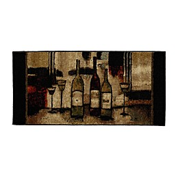 Mohawk Home Wine and Glasses Rug in Brown