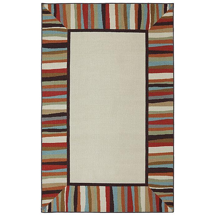 Alternate image 1 for Mohawk Home Patio Rainbow Border 7-Foot 6-Inch x 10-Foot Indoor/Outdoor Area Rug