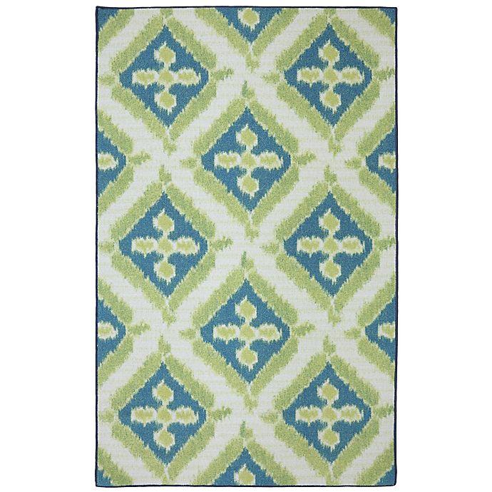 Alternate image 1 for Mohawk Home Summer Splash Indoor/Outdoor 5-Foot x 7-Foot Area Rug in Turquoise