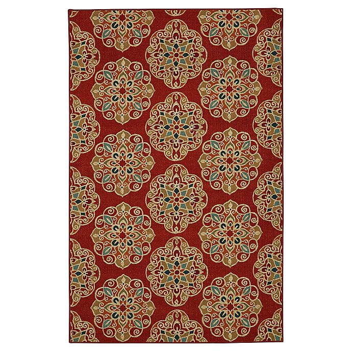 Alternate image 1 for Mohawk Home Kolam 7-Foot 6-Inch x 10-Foot Area Rug in Red