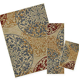 Mohawk Home Medallones Garden 1-Foot 6-Inch x 2-Foot 6-Inch Accent Rug (Set of 3)