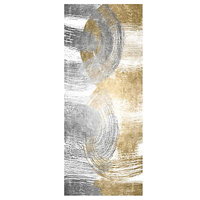 Oliver Gal Home Two Become One 3-Foot x 8-Foot Runner in Silver/Gold