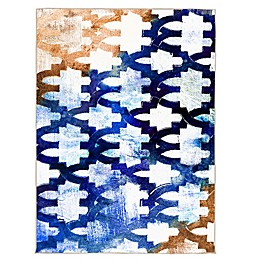 Oliver Gal Home Porton Alhambra 5-Foot x 8-Foot Area Rug in Blue