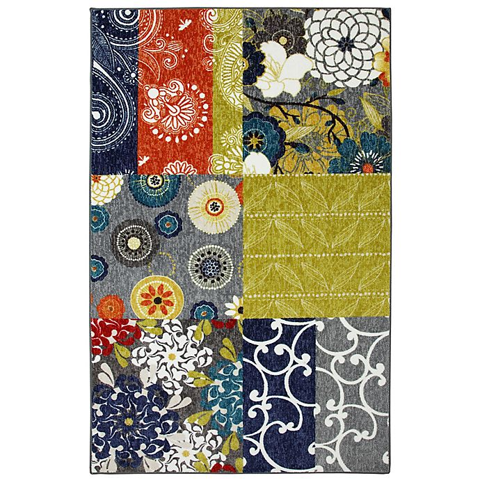 Alternate image 1 for Mohawk Home Secret Garden Patchwork 7-Foot 6-Inch x 10-Foot Multicolor Area Rug