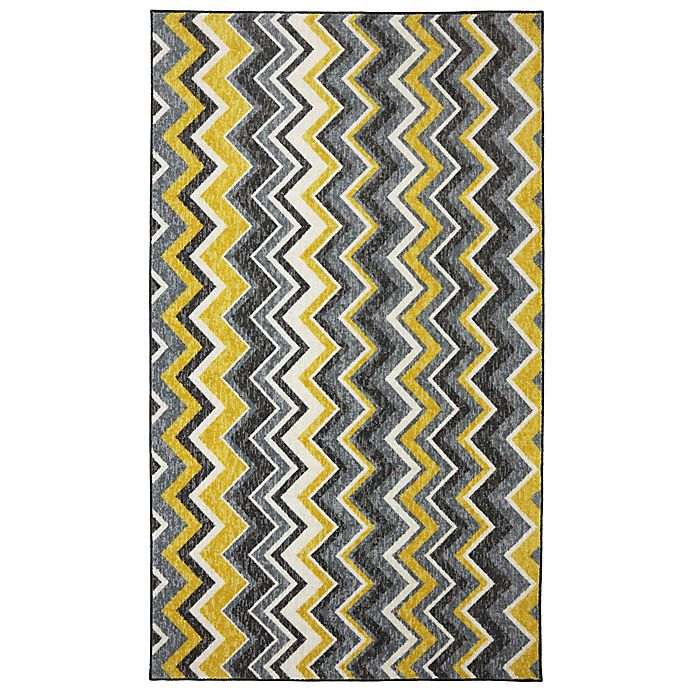 Alternate image 1 for Mohaw Home Ziggidy 7-Foot 6-Inch x 10-Foot Are Rug in Yellow