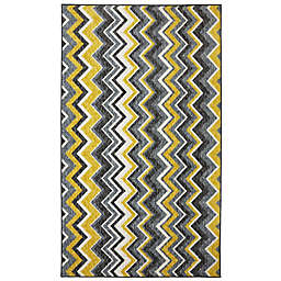 Mohaw Home Ziggidy 7-Foot 6-Inch x 10-Foot Are Rug in Yellow