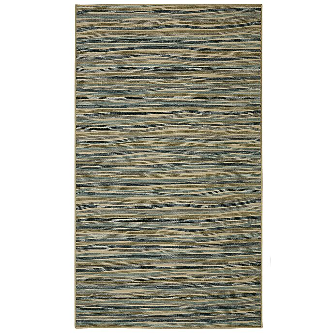 Alternate image 1 for Mohawk Home Melody Cool Stripe 7-Foot 6-Inch x 10-Foot Area Rug