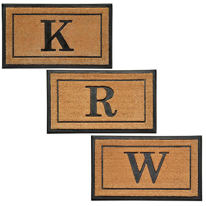 Buy 18 Inch By 30 Inch Monogram Letter Quot L Quot Doormat In
