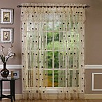 Astor 84-Inch Sheer Embroidered Rod Pocket Window Curtain Panel in Gold
