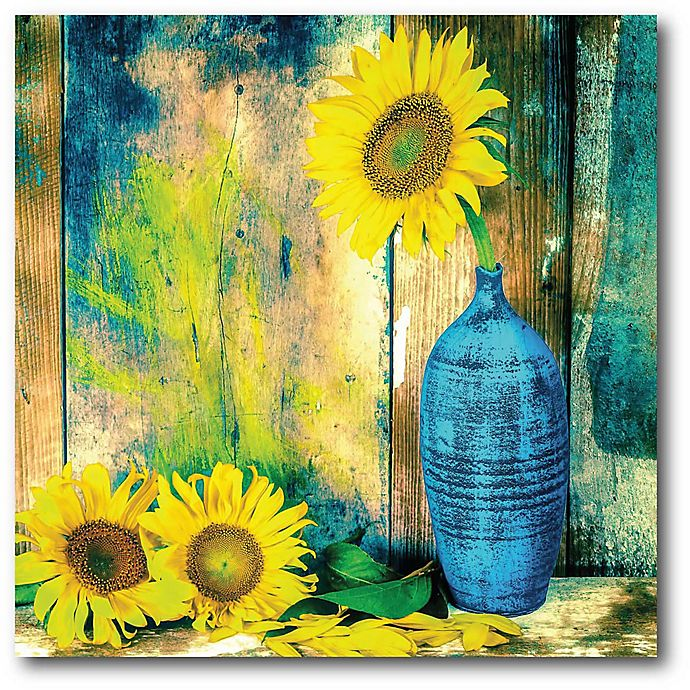 Alternate image 1 for Courtside Market Sunflowers 16-Inch Square Canvas Wall Art
