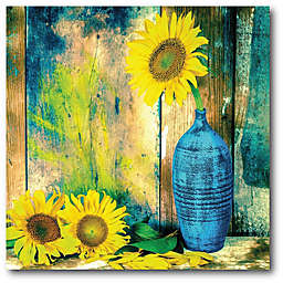 Courtside Market Sunflowers 16-Inch Square Canvas Wall Art