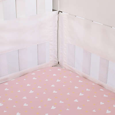 ED Ellen DeGeneres Cotton Tail Secure-Me Crib Liner in Cream