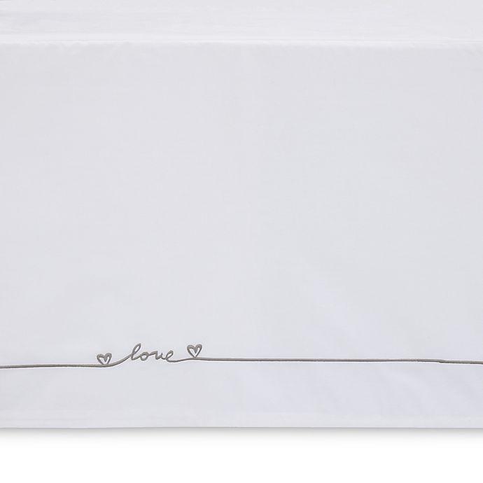 Alternate image 1 for ED Ellen DeGeneres Cotton Tail Embroidered Crib Bed Skirt in Ivory