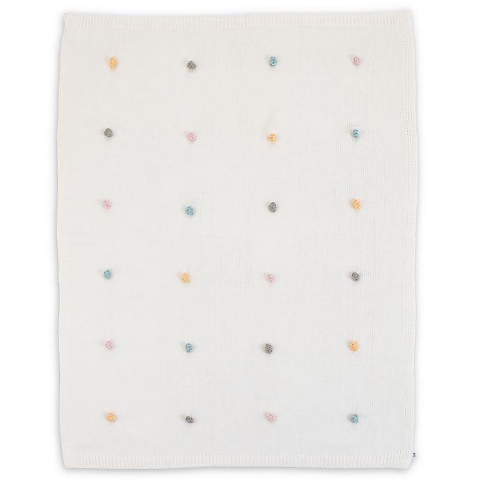 Alternate image 1 for ED Ellen DeGeneres Cotton Tail Pom Pom Blanket in Teal/Grey