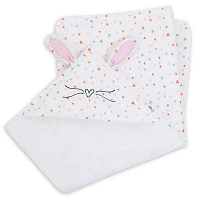 ED Ellen DeGeneres Cotton Tail Hooded Blanket in Ivory/Peach