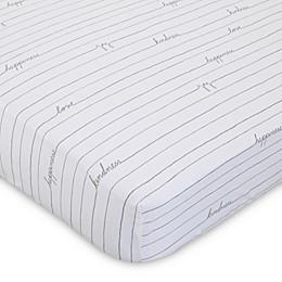 ED Ellen DeGeneres Starry Night Love Striped Fitted Crib Sheet