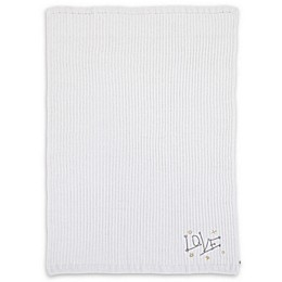 ED Ellen DeGeneres Starry Night Embroidered Chenille Baby Blanket in Ivory
