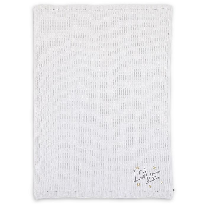 Alternate image 1 for ED Ellen DeGeneres Starry Night Embroidered Chenille Baby Blanket in Ivory