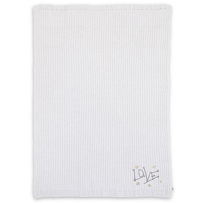 Alternate image 1 for ED Ellen DeGeneres Starry Night Embroidered Chenille Baby Blanket in Ivory