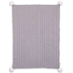 ED Ellen DeGeneres Starry Night Cable Knit Chenille Baby Blanket in Grey