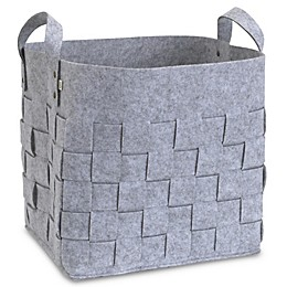 ED Ellen DeGeneres Starry Night Felt Storage Basket in Grey