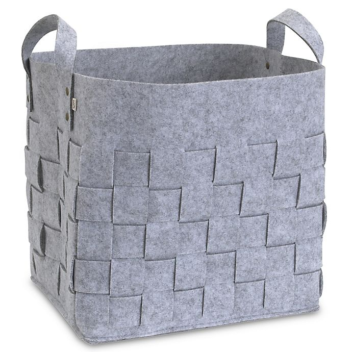 Alternate image 1 for ED Ellen DeGeneres Starry Night Felt Storage Basket in Grey