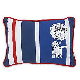 ED Ellen DeGeneres Doodle Dog Rugby Stripe Oblong Throw Pillow