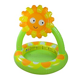 Pool Central Sunflower Baby Pool with Adjustable Sun Shade