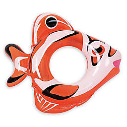 Pool Central Fish 34-Inch Inner Tube Ring Float in Orange/White
