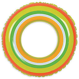 Pool Central Stripe 35-Inch Inner Tube Ring Float in Green/Orange