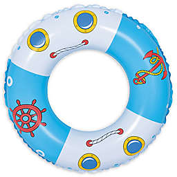 Pool Central Boat and Anchor 30-Inch Inner Tube Ring Float in Blue