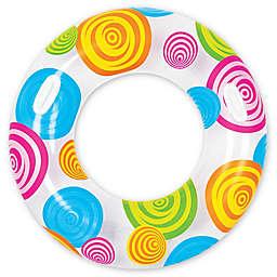 Pool Central Swirl 35-Inch Inner Tube Ring Float in Multicolor